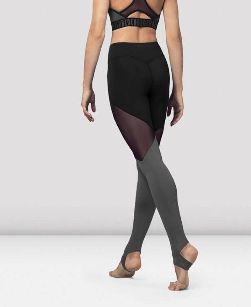 Leggins largos para baile con transparencias. Bloch FP5196